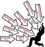 Geschäftspersonenlohn zu viele Steuern Lizenzfreie Stockbilder