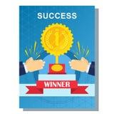 Geschäftsplakaterfolg Lizenzfreies Stockbild