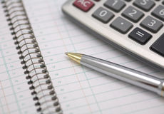 Geschäftsplaner mit Kalender Stockfoto