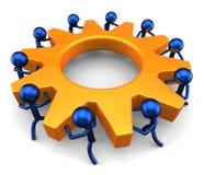 Geschäftsprozess. Teamwork-Konzept Lizenzfreie Stockfotos