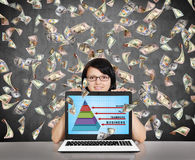 Geschäftspyramide Stockfotografie