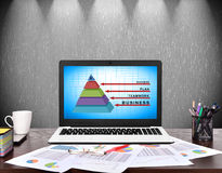Geschäftspyramide Lizenzfreie Stockfotos