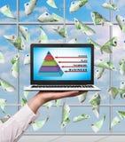 Geschäftspyramide Stockfotos