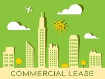Geschäftsraummiete stellt Real Estate-Gebäude 3d Illustratio dar Stockfoto