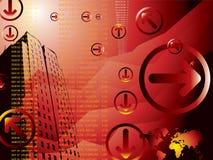 Geschäftsresultate rot Stockfotografie