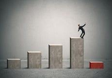 Geschäftsrisiko mit Krise lizenzfreies stockbild