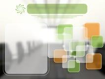 Geschäftsschablone mit transparenten Schichten Lizenzfreie Stockbilder