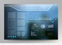 Geschäftsschablonenseite mit blauen abstrakten Vektorhintergründen Stockbilder