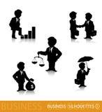 Geschäftsschattenbilder 1 stock abbildung