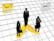 Geschäftsschattenbilder Lizenzfreie Stockfotos