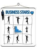 Geschäftsschattenbilder Lizenzfreies Stockfoto