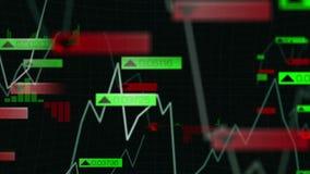 Geschäftsschnittstelle mit verschiedenen Diagrammen stock abbildung