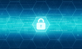 Geschäftssicherheits-Datenhintergrund Lizenzfreie Stockfotografie
