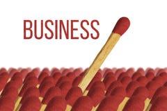 Geschäftssieger, stehen heraus, Match Lizenzfreies Stockfoto