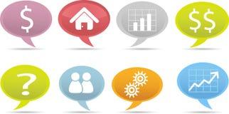 Geschäftsspracheluftblase Stockfotos