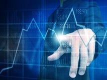 Geschäftsstammaktien des Geschäftsmannes Stockfotos
