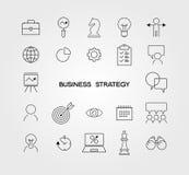 Geschäftsstrategie-Ikonen Stockfotografie