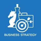 Geschäftsstrategie-Ikonen Lizenzfreies Stockbild