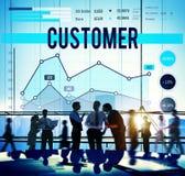 Geschäftsstrategie-Konzept des Kunden-zielgruppenorientierten Marketings Lizenzfreie Stockfotografie