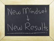 Geschäftsstrategie-Konzept-neue Denkrichtung und Ergebnisse Lizenzfreies Stockfoto