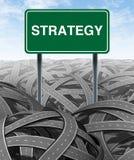 Geschäftsstrategie und Herausforderung stock abbildung