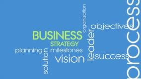 Geschäftsstrategieeinleitung zum Darstellungsanimationsvideo ultra im hd oder in 4k Geschäftskonzeptvideo mit Schlüsselwörtern stock video