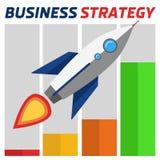 Geschäftsstrategierakete Lizenzfreie Stockfotografie