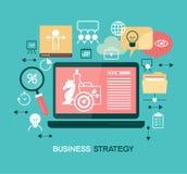 Geschäftsstrategieschablone Stockbild