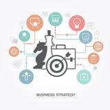 Geschäftsstrategieschablone Stockfotografie