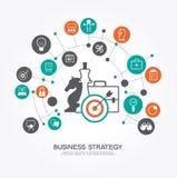 Geschäftsstrategieschablone Lizenzfreie Stockfotografie