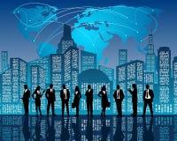 Geschäftsteam auf Stadthintergrund Stockfoto