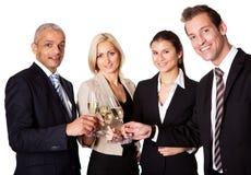Geschäftsteam, das Erfolg feiert Lizenzfreie Stockfotos