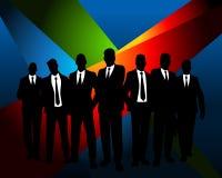 Geschäftsteam am dunklen Hintergrund Stockfoto