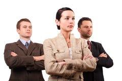 Geschäftsteam mit drei Personen stockfoto