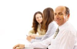 Geschäftsteam und ein Führer Lizenzfreies Stockfoto