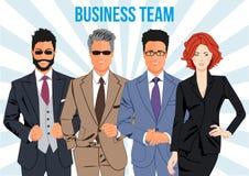 Geschäftsteam- und -teamwork-Konzept des Entwurfes Stockfotos