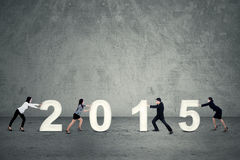 Geschäftsteam vereinbaren 2015 Lizenzfreies Stockbild