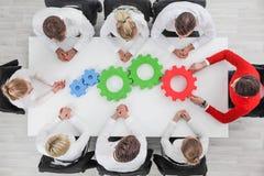 Geschäftsteam-Zusammenarbeitskonzept stockfotos