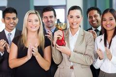 Geschäftsteamgewinnen Stockfotos