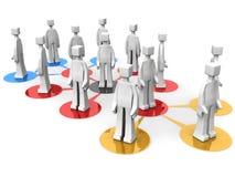 Geschäftsteams und multi waagerecht ausgerichtetes Konzept Stockbild