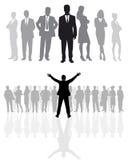 Geschäftsteamschattenbilder Stockbild