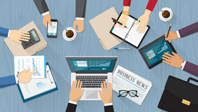Geschäftsteamwork lizenzfreie abbildung