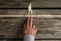 Geschäftsteamwork-Konzept mit der Hand einer Geschäftsmannunterstützung Stockfoto