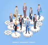 Geschäftsteamwork-Management begrifflich Geschäftsleute und Frauen lizenzfreie abbildung