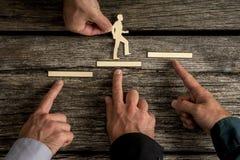 Geschäftsteamwork- und -zusammenarbeitskonzept lizenzfreie stockbilder
