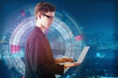 Geschäftstechnologie und Internet-Konzept Stockbilder