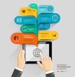 Geschäftstechnologieblasensprache-Schablonenart Lizenzfreies Stockbild