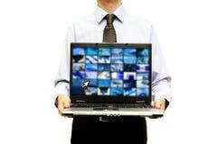 Geschäftstechnologiedarstellung Lizenzfreie Stockfotos