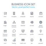 Geschäftsthemalinie Ikonensatz Lizenzfreie Stockbilder