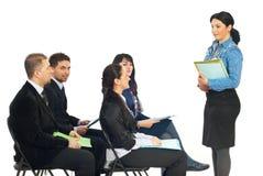 Geschäftstraining Lizenzfreie Stockbilder